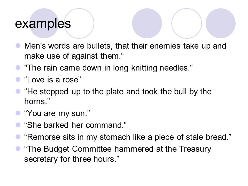 Warm Up 8 Give Me An Example Of A Simile Give Me An Example Of A