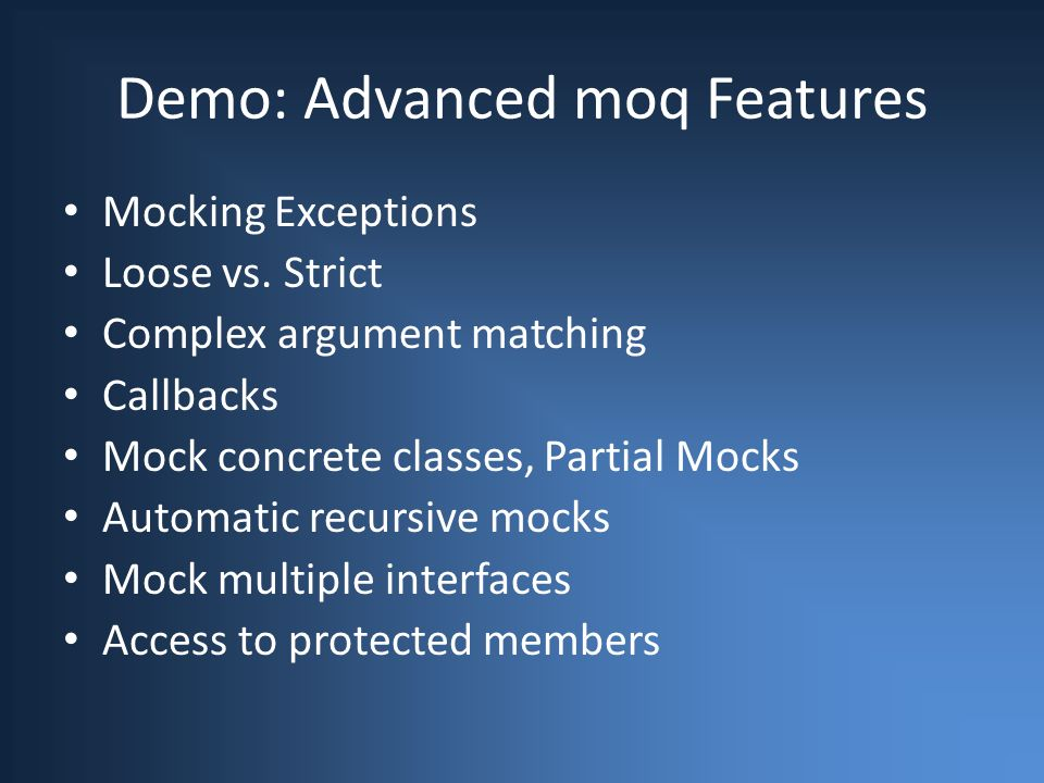 Using Mock Objects with Test Driven Development Justin