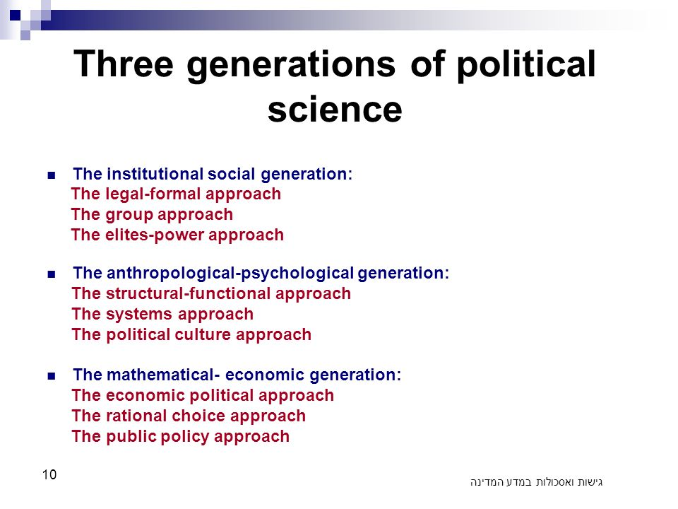 what is an approach in political science