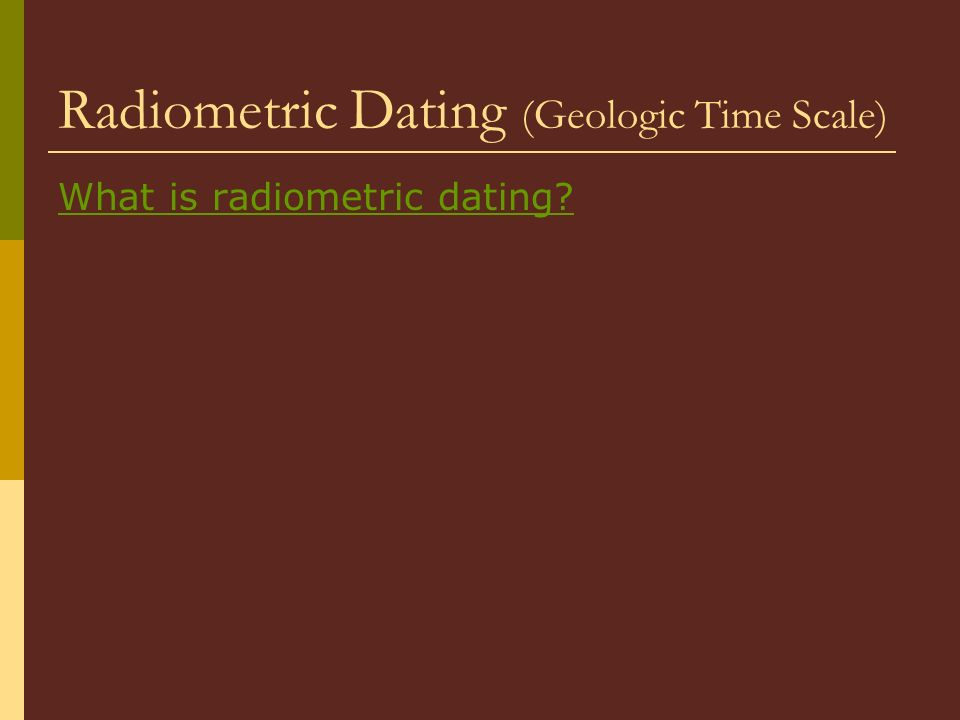 Can students distinguish between relative and absolute dating and describe.