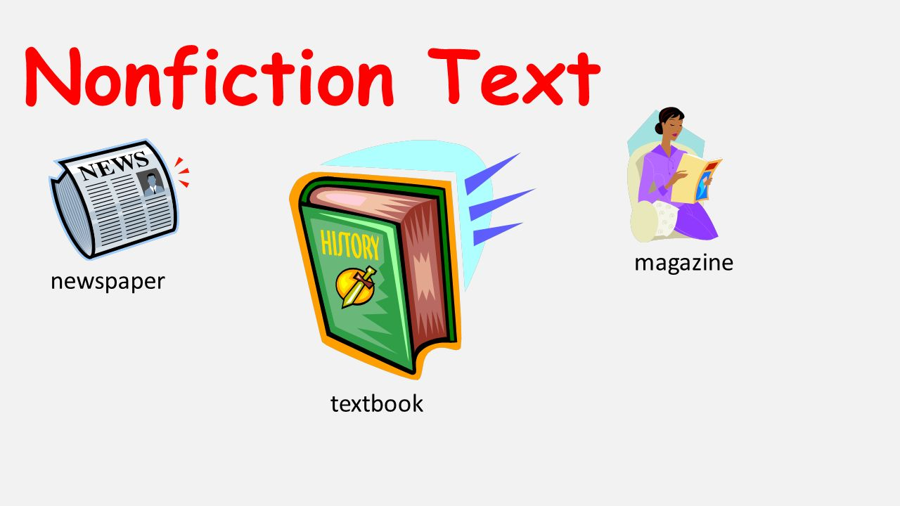 Nonfiction Text newspaper textbook magazine