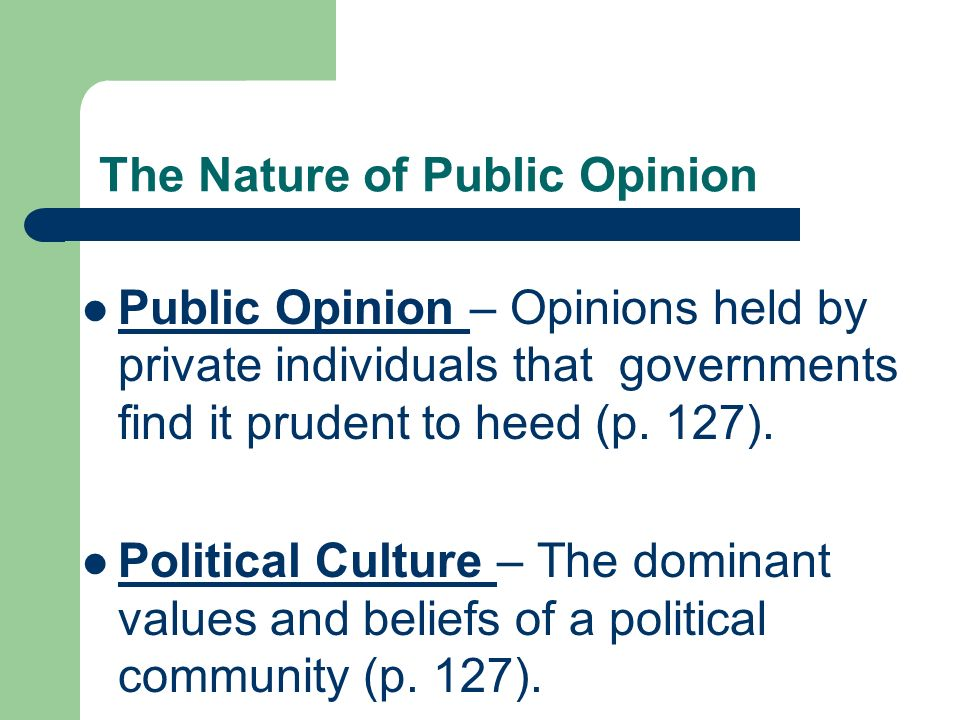 nature of public opinion