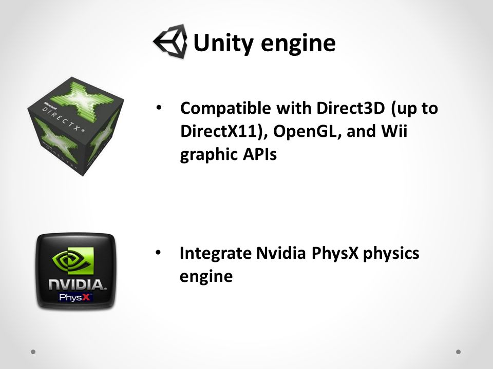 A complete game editor Unity 3D 2D/3D game/rendering engine and