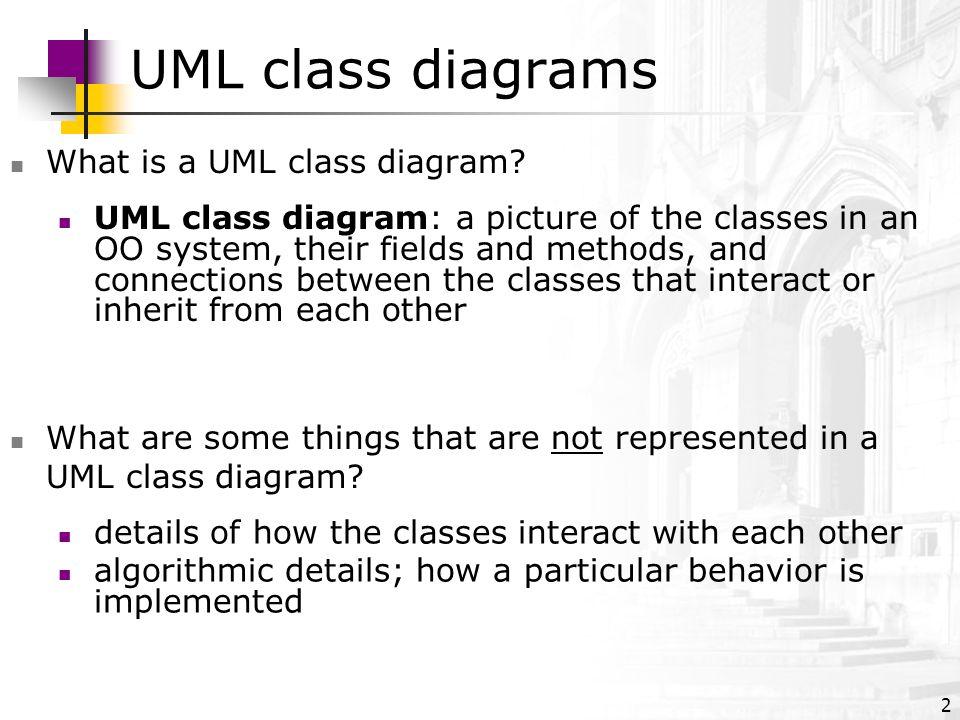 uml class diagrams what is a uml class diagram