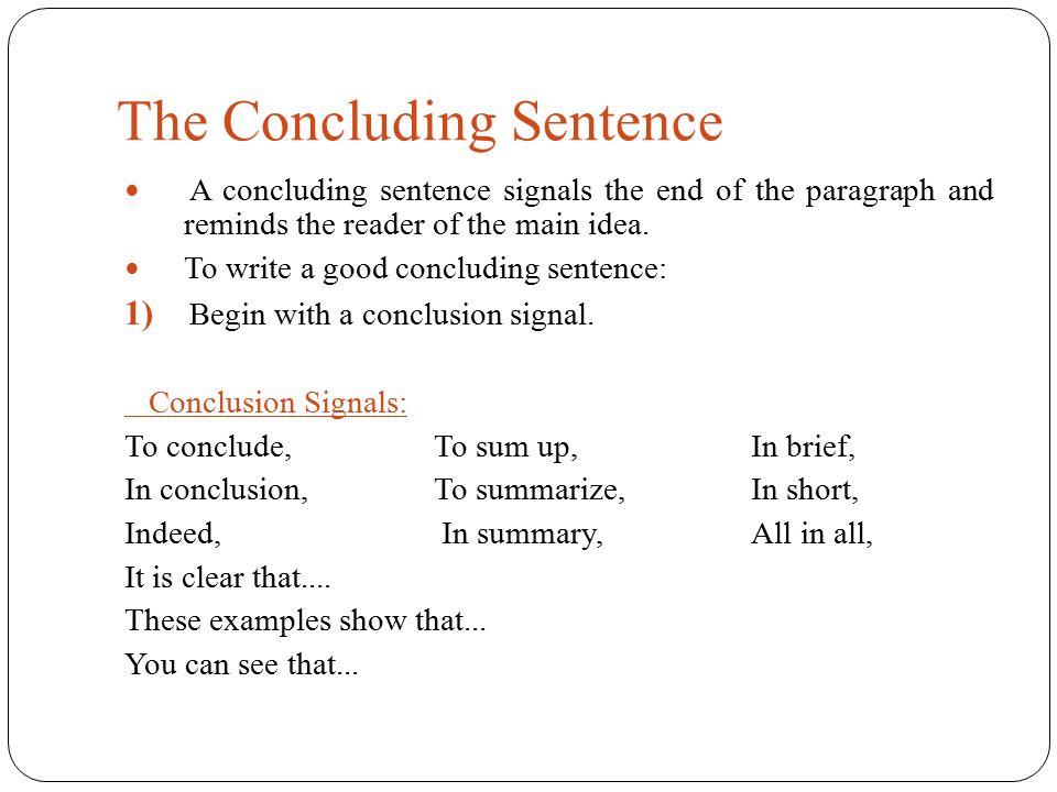 short paragraph with main idea