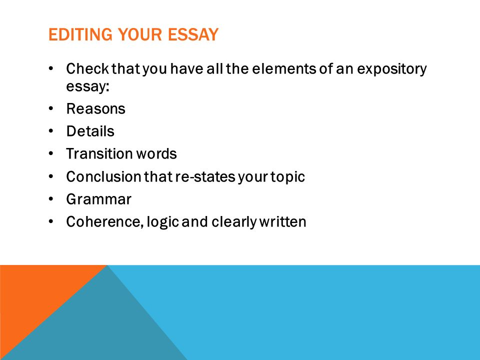 EXPOSITORY WRITING The How And Why Of Writing Ppt Download