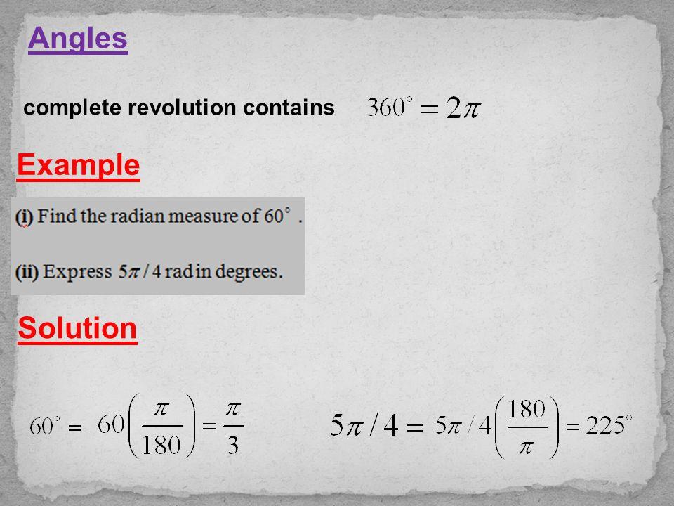 Chapter (3) Transcendental Functions 1- Trigonometric Functions 2