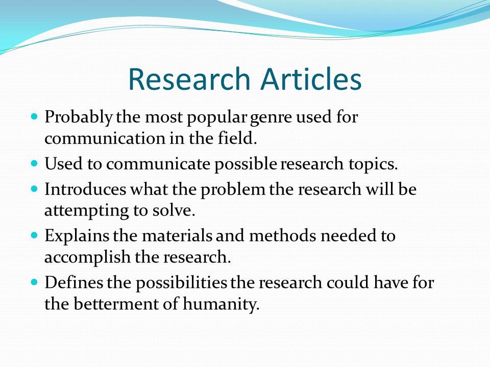 popular biology research topics