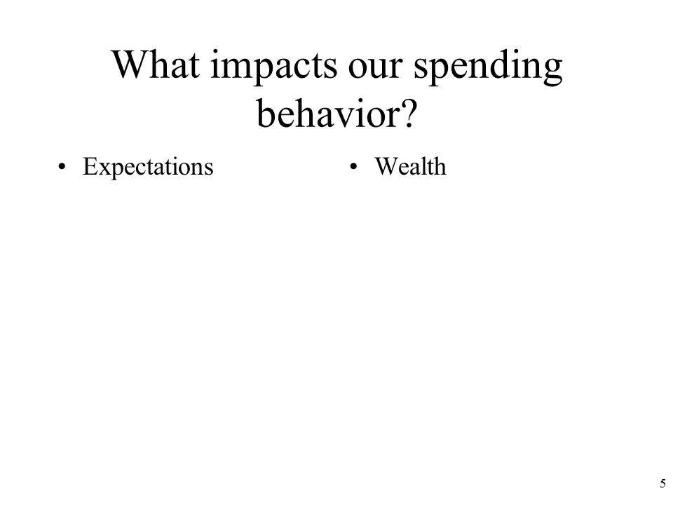 What impacts our spending behavior ExpectationsWealth 5