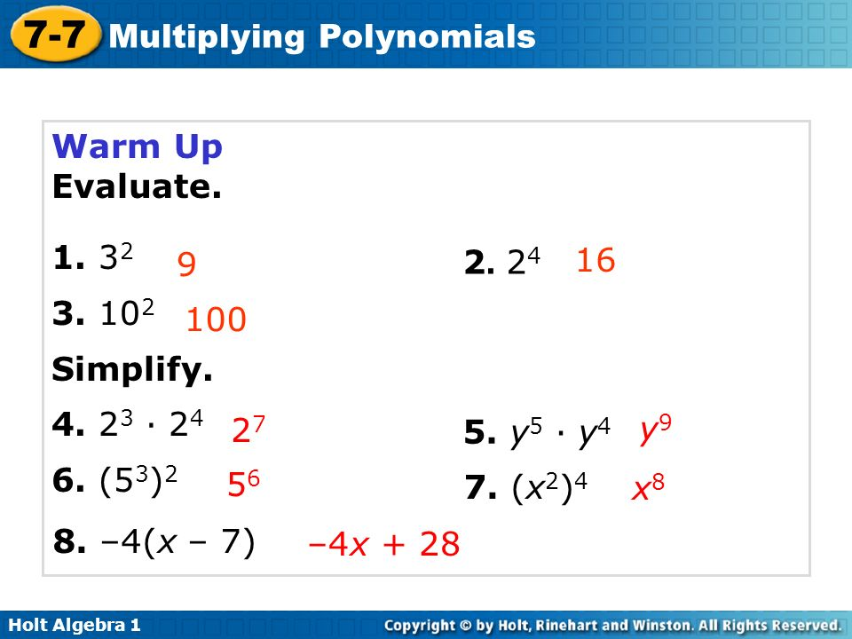 problem solving multiplying polynomials lesson 7-7