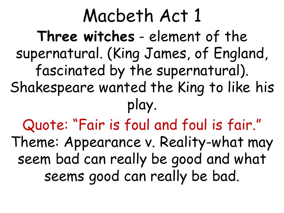 an analysis of the use of the supernatural in william shakespeares play macbeth Macbeth is one of shakespeare's most intense characters while macbeth is certainly no hero, he's not a typical villain either he is complex, and his guilt for his many bloody crimes is a central theme of the play the presence of supernatural influences is another theme of macbeth and one.