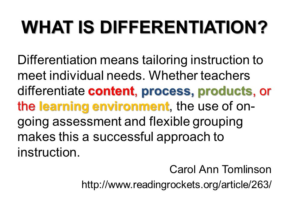 Differentiation Every Child Matters What Is Differentiation