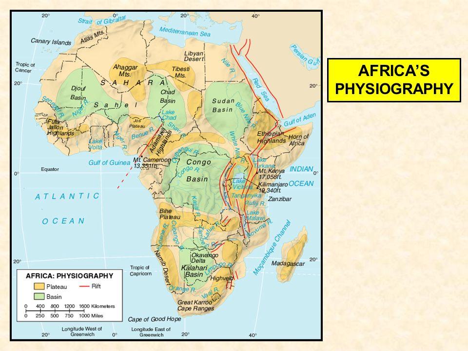 Subsaharan Africa Africa S Physiography Oil Drakensberg Atlas Mts