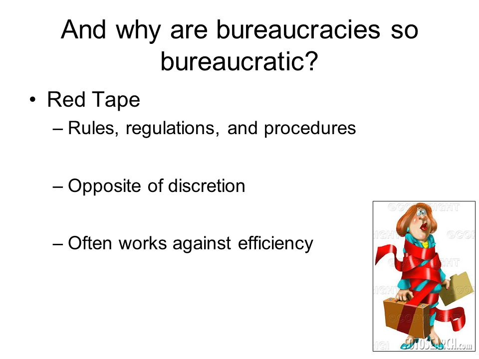 what is the opposite of bureaucracy