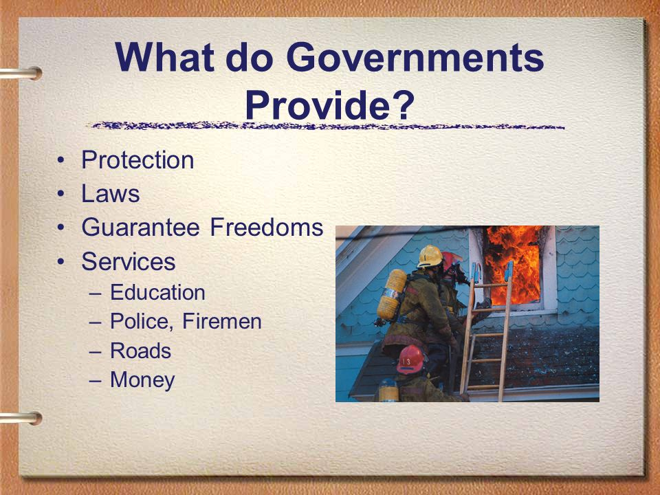 What do Governments Provide.
