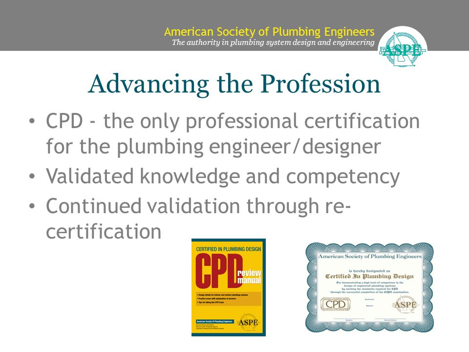 American Society of Plumbing Engineers The authority in plumbing ...