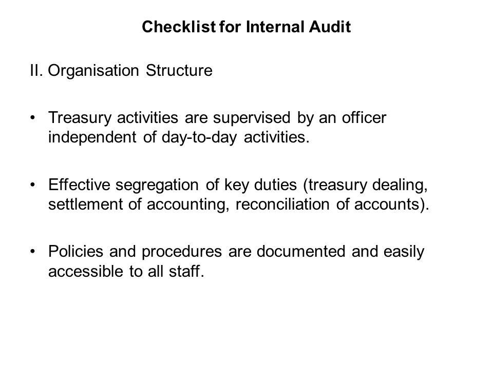 Internal Audit for Treasury Market Risk Management  - ppt
