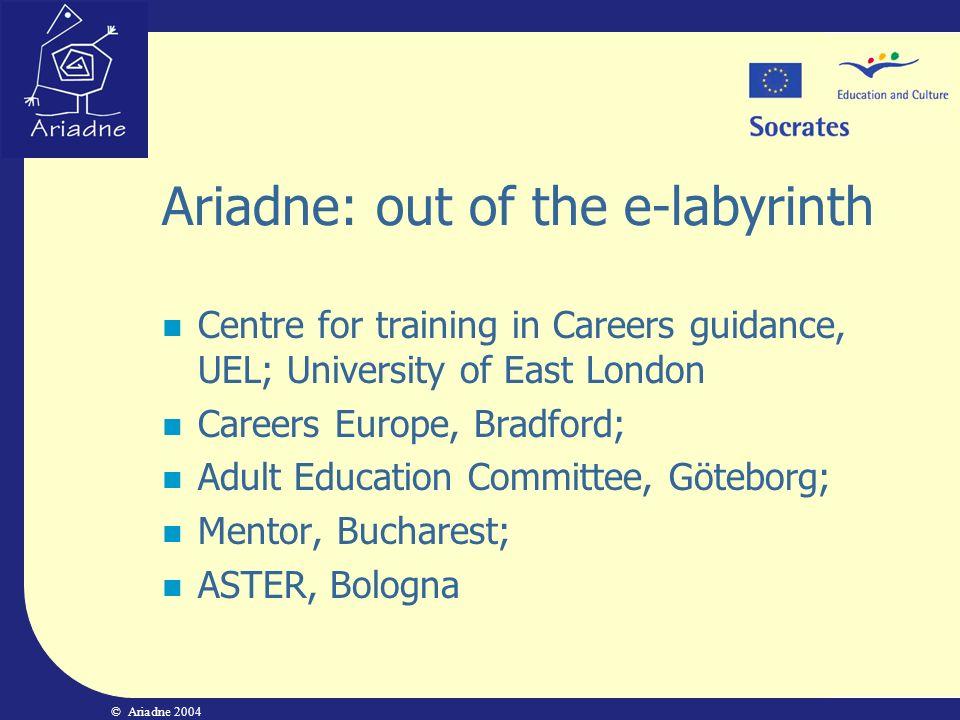 Ariadne EU   Ariadne Project EU