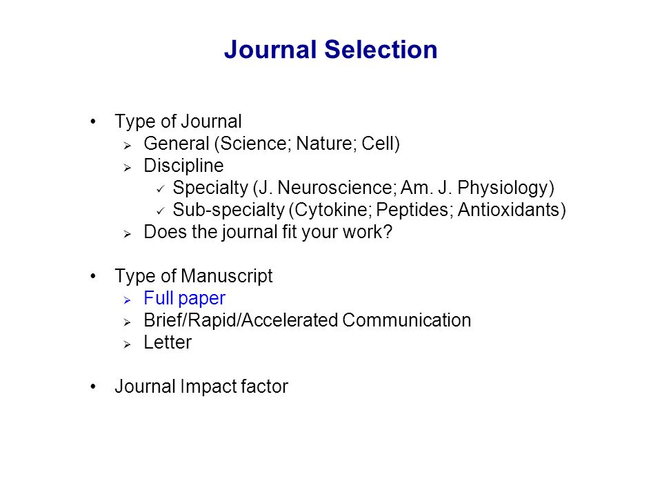 how to write a paper for journal
