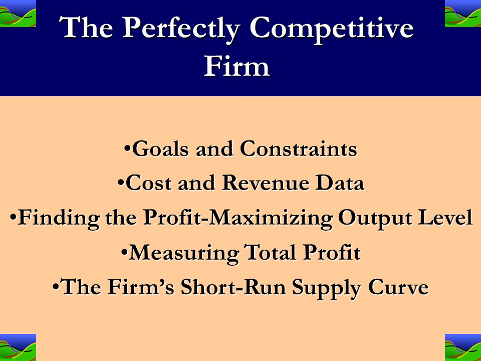 perfect competition requirements