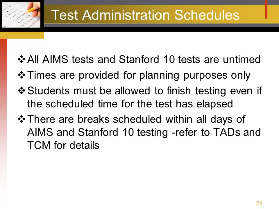 aims pre test training spring agenda test training packet rh slideplayer com Stanford 10 Test Practice 3rd Grade Stanford 10 Test
