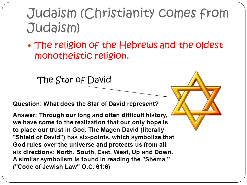 The Early Hebrews Judaism Christianity Comes From Judaism The
