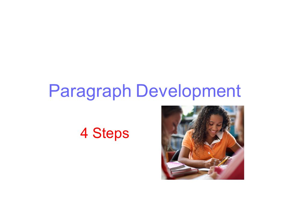 explain the basic steps in developing a paragraph
