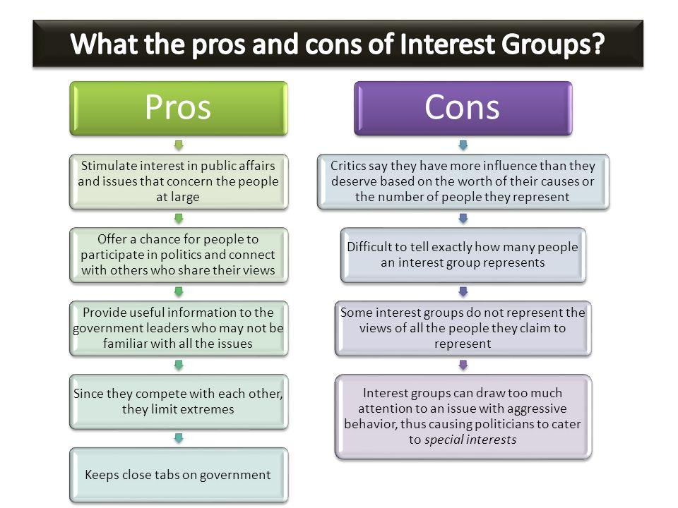 provide a definition of the term interest group