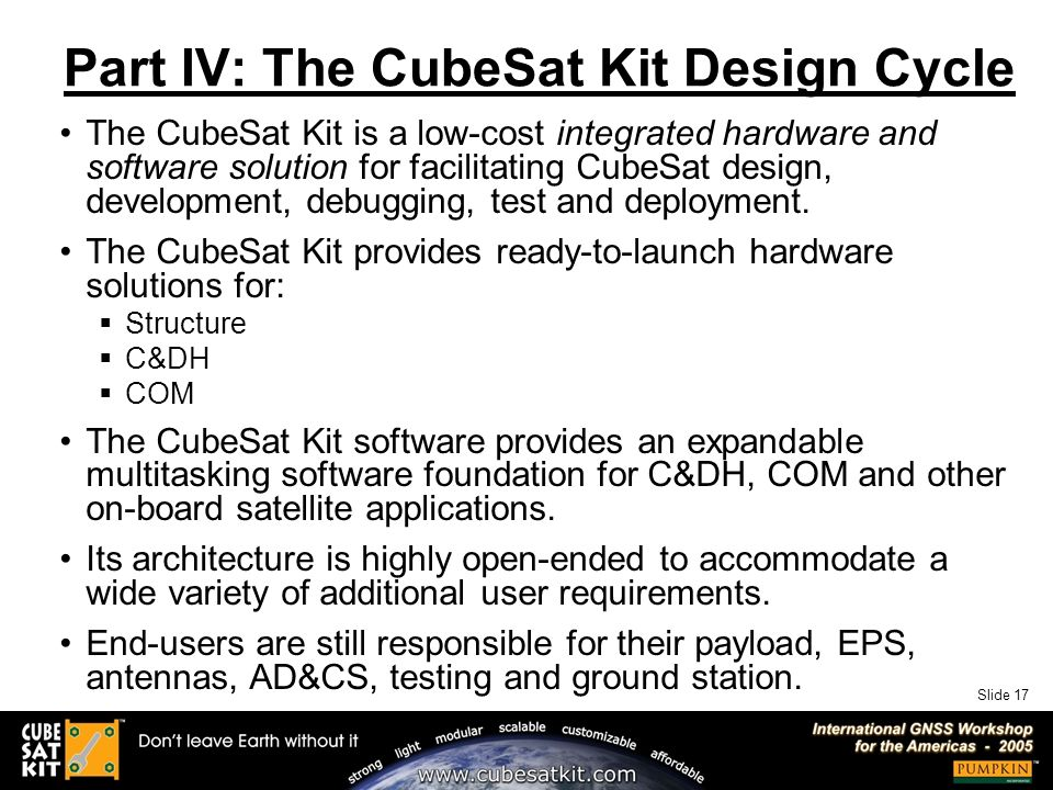 Slide 1 Accelerated Picosatellite Design Cycle using the CubeSat Kit