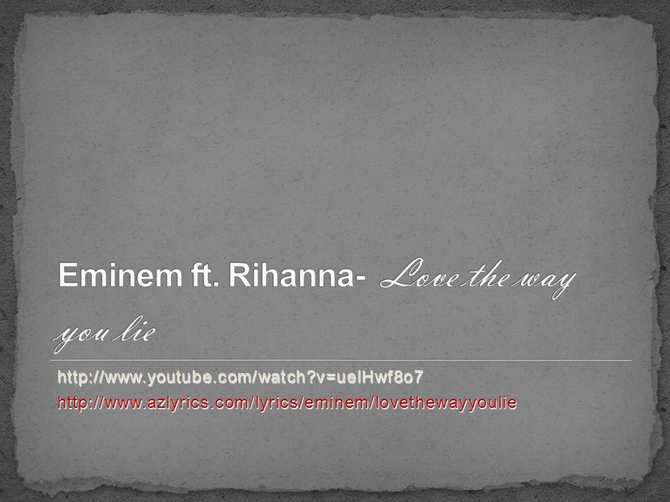 love the way you lie az lyrics