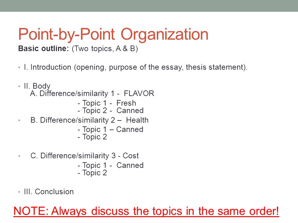 point by point essay