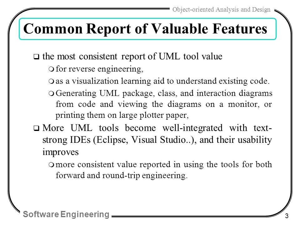 Software engineering 1 object oriented analysis and design chap 22 3 software engineering malvernweather Images