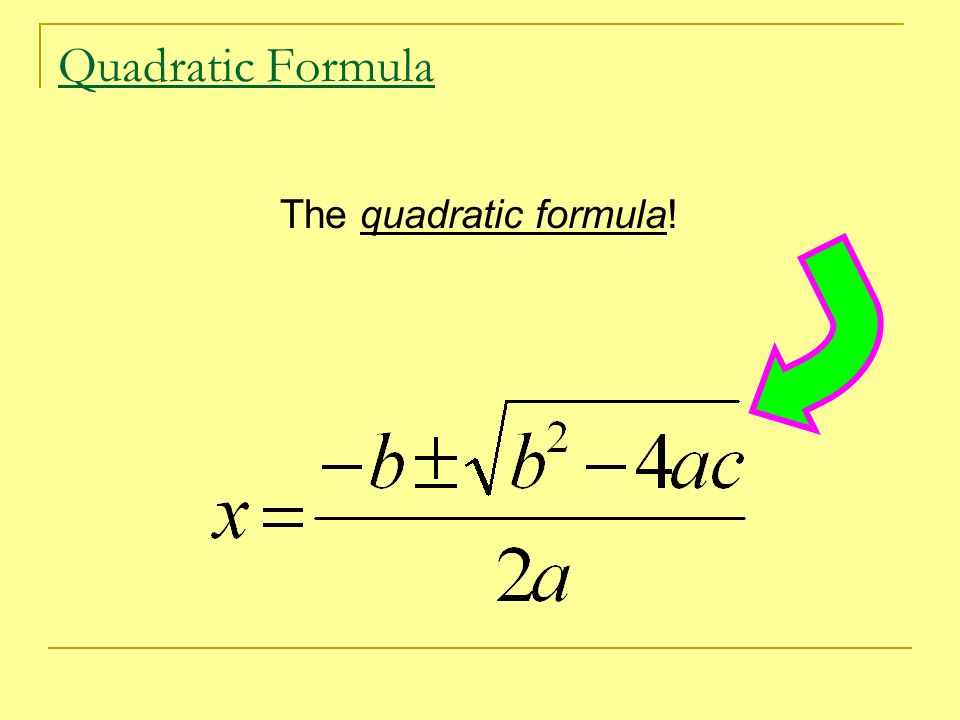 Lesson 3.8 Quadratic Formula & Discriminant