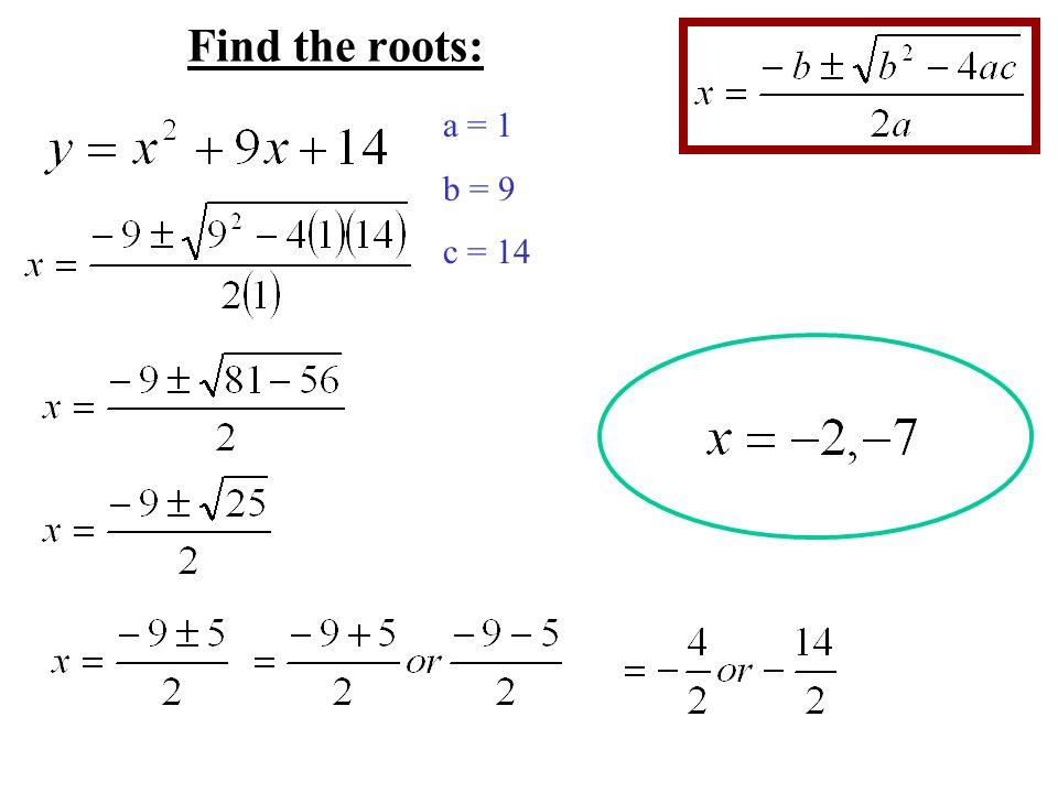 58 Quadratic Formula For Quadratic Equations Written In Standard