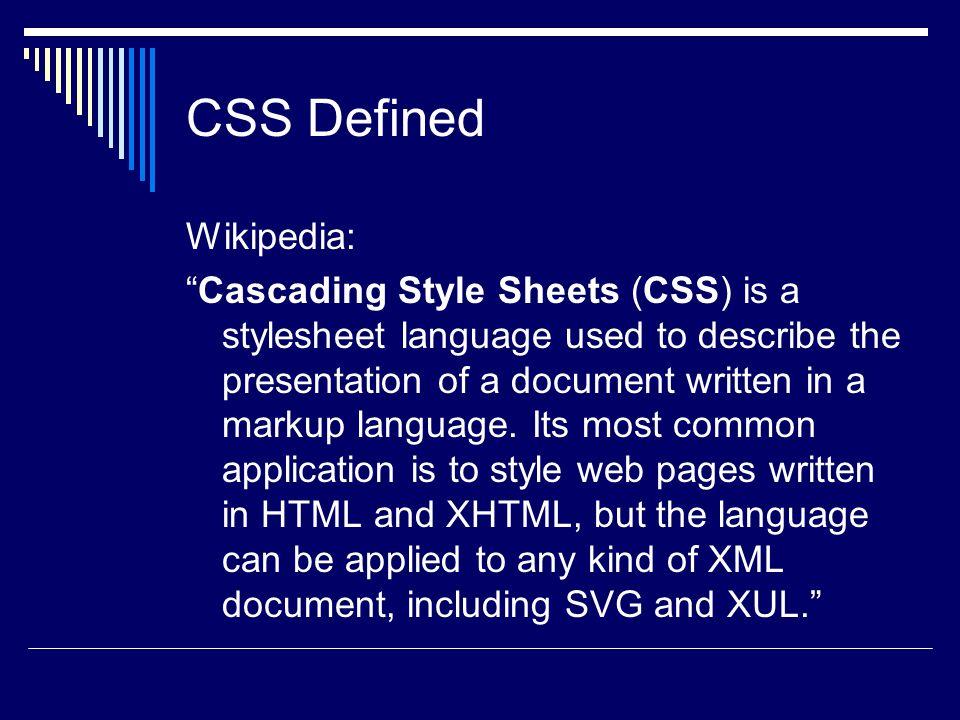 CSS : Cascading Style Sheets Ann Dobbs Class: i385e  - ppt