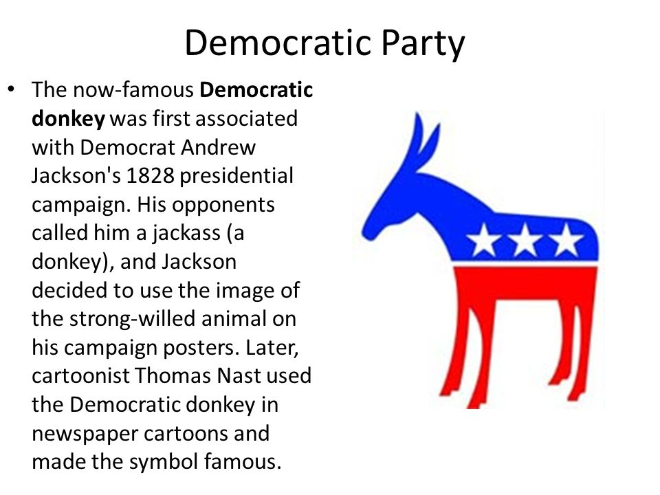 Why Is The Donkey The Symbol For The Democratic Party Image