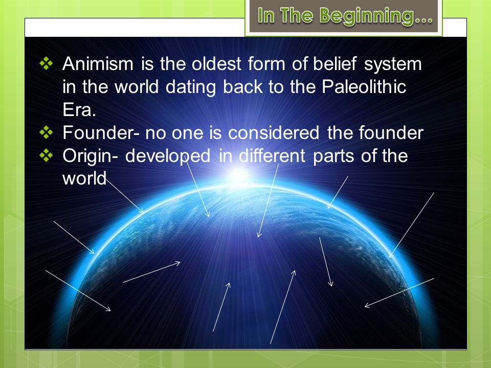 what do followers of animism believe