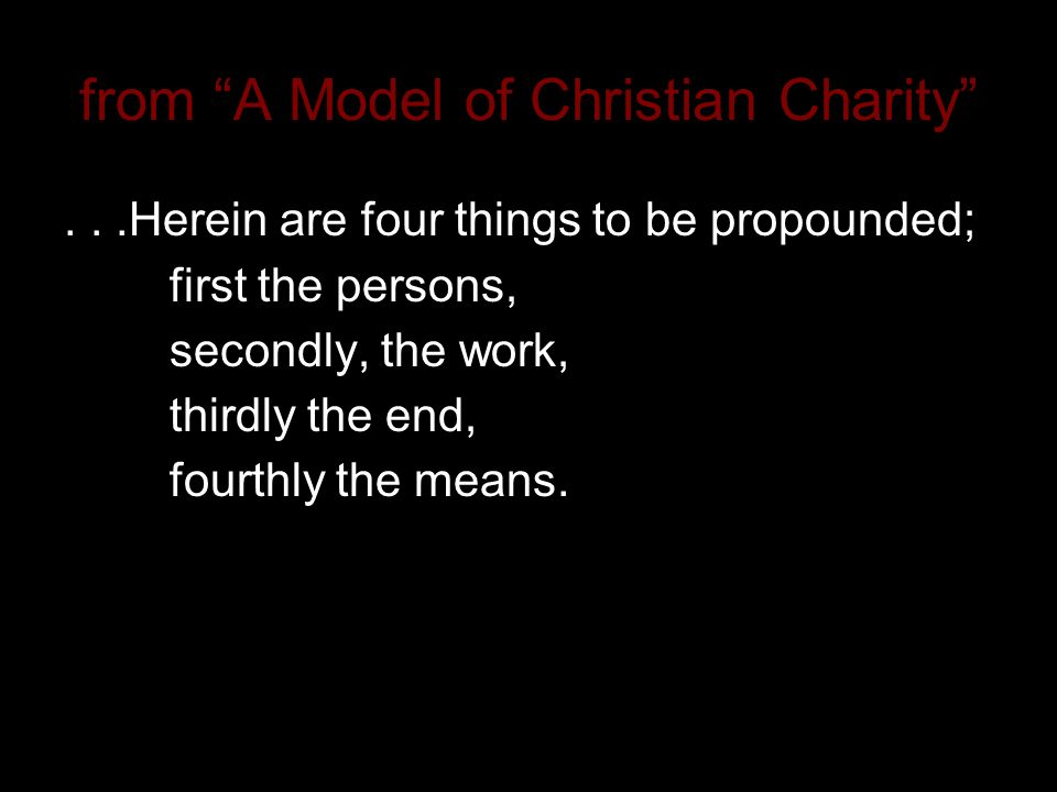 4 From A Model Of Christian Charity