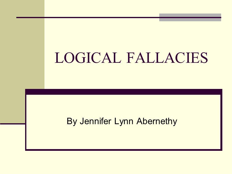 avoiding fallacies