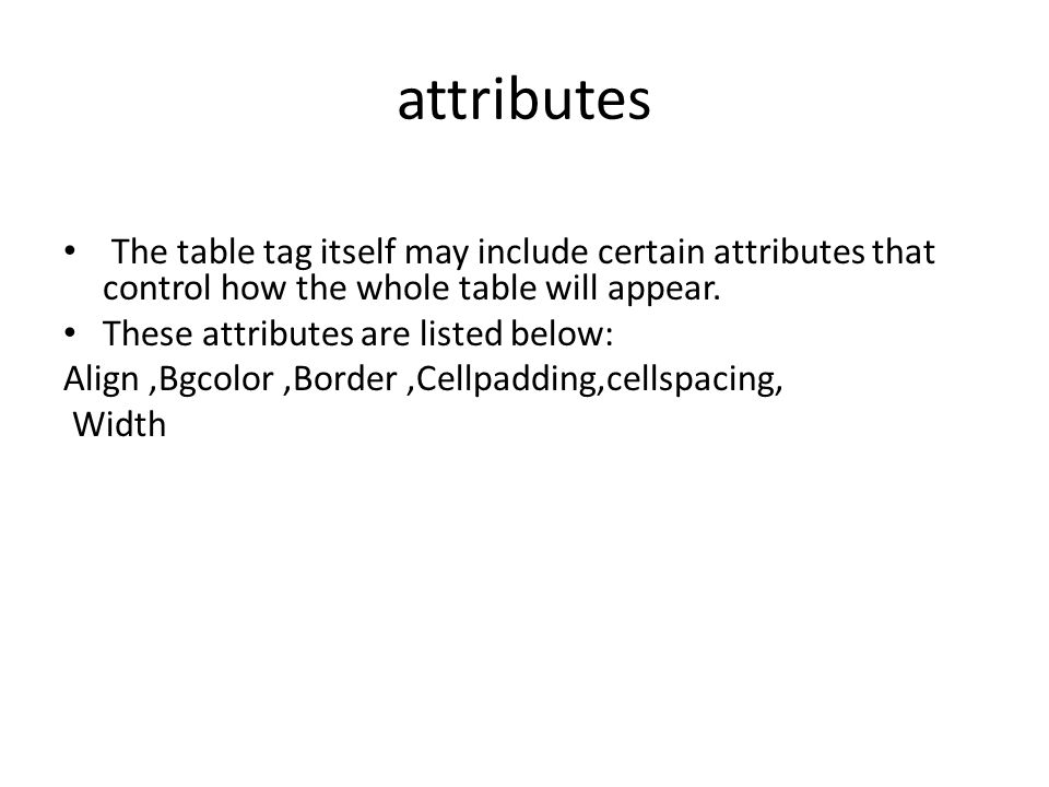 Html table attributes herpmeds.