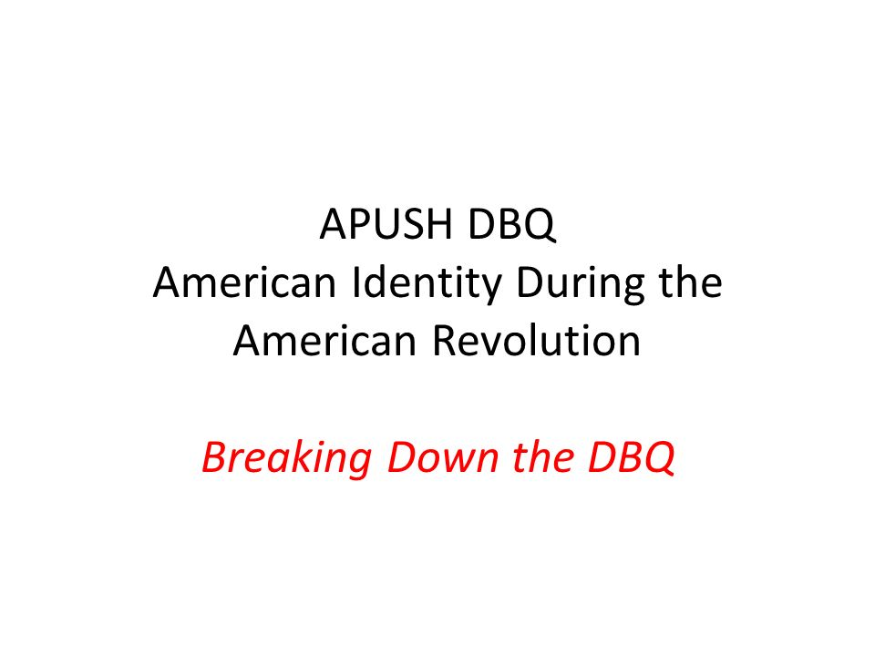 apush chapter 10 dbq Ap european history advanced placement european history is divided into two semesters, and each semester is comprised of three six weeks in each six weeks students will write a dbq and a.