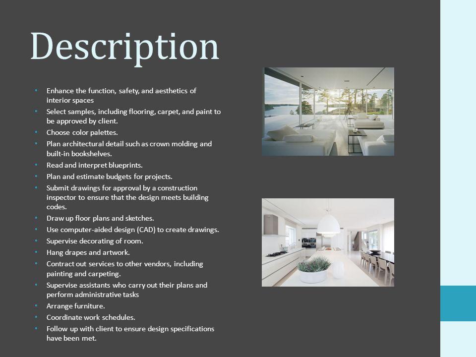 estimate for interior design samples