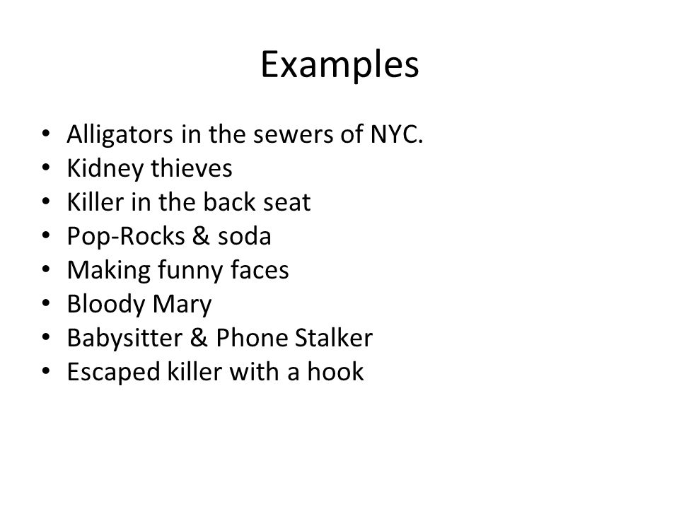 Examples Alligators