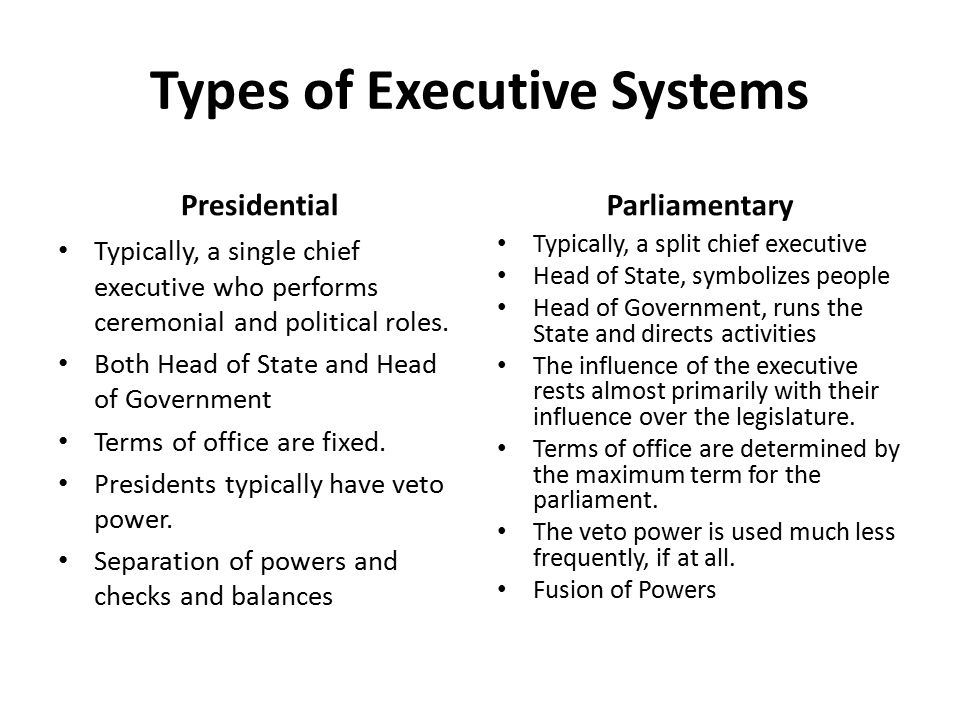 types of chief executive