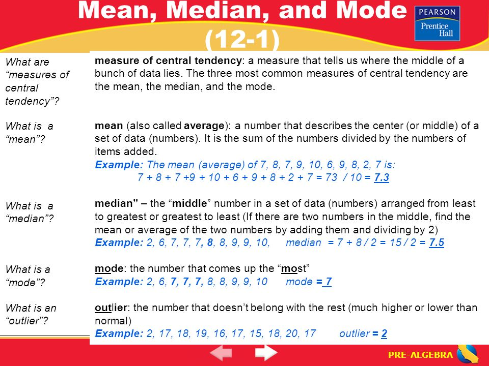 examples of mean median and mode in real life