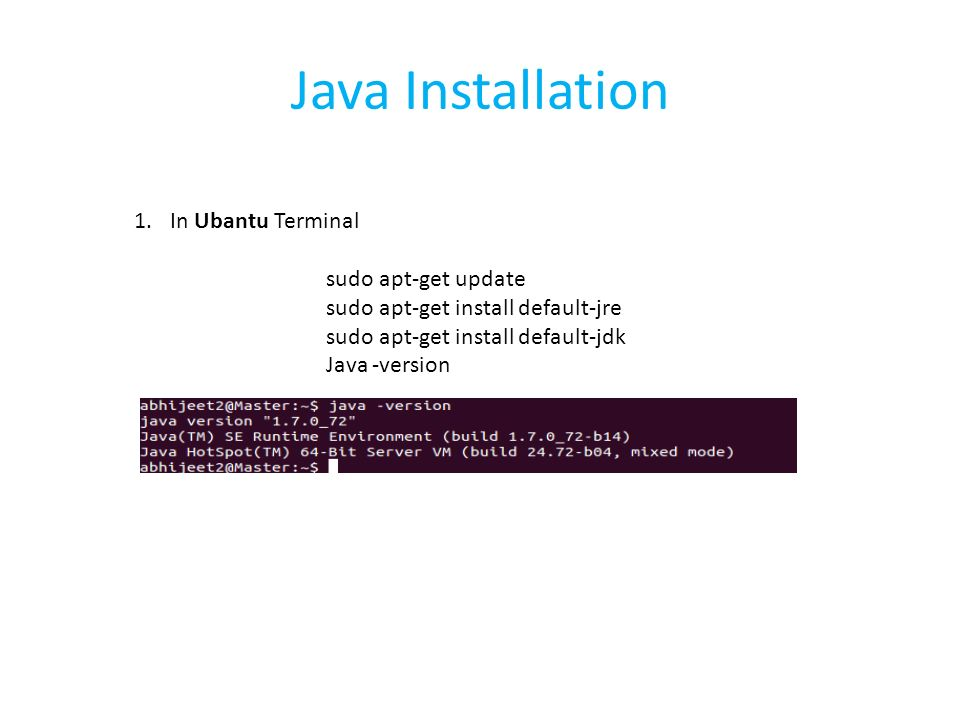 Apache Mahout Installation and Examples  Pre requisites Java