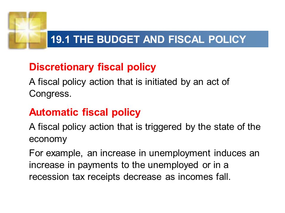 a study on monetary and fiscal policies Monetary policy is typically implemented by a central bank, while fiscal policy decisions are set by the national government however, both monetary and fiscal policy may be used to influence the performance of the economy in the short run in general, a stimulative monetary policy is expected to.