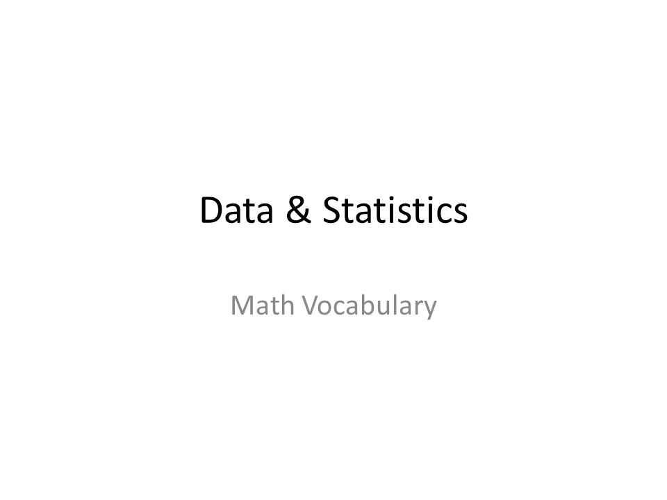 Data Statistics Math Vocabulary Pictograph Data Another Word