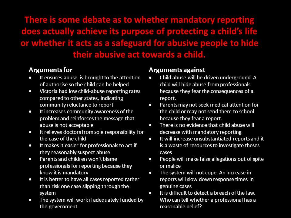 child abuse arguments