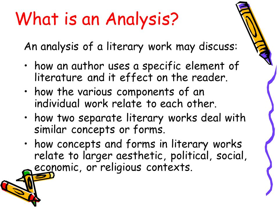 Attractive 6 What Is An Analysis?